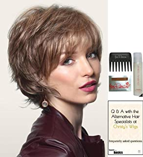 SKY by Noriko Wig, 15 Page Christy's Wigs Q & A Booklet, Wig Shampoo, Wig Cap & Wide Tooth Comb - Color: HARVEST GOLD