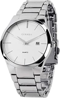 Curren men clock casual stainless steel wrist quartz watch 8106