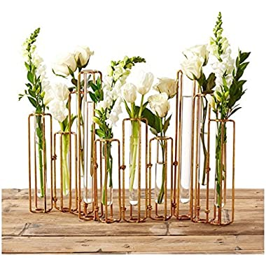 Two's Company Tozai Home Lavoisier Hinged Flower Vases,Set of 10