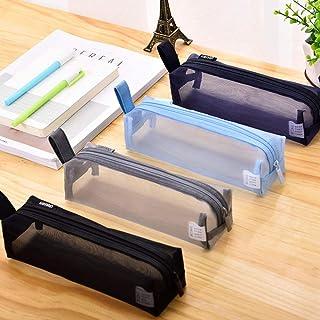 LMWB Enkelt transparent pennfodral student pennfodral män och kvinnor stor kapacitet brevpapper väska pennväska student ex...