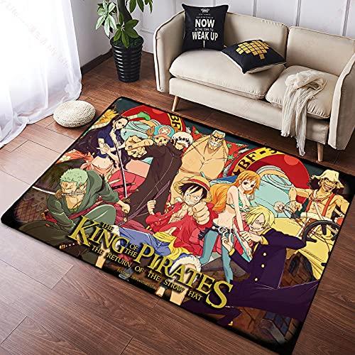 Alfombra Cartoon Anime Character One Piece Personalidad Creativa Naruto Alfombra Sala De Estar Dormitorio Habitación Mesita De Noche-80X120CM-A_120x160cm