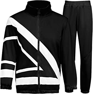 MACHLAB Men's Athletic Suit Sports Set Jogging Sweatsuits Full Zip Track Suits Casual Tracksuits