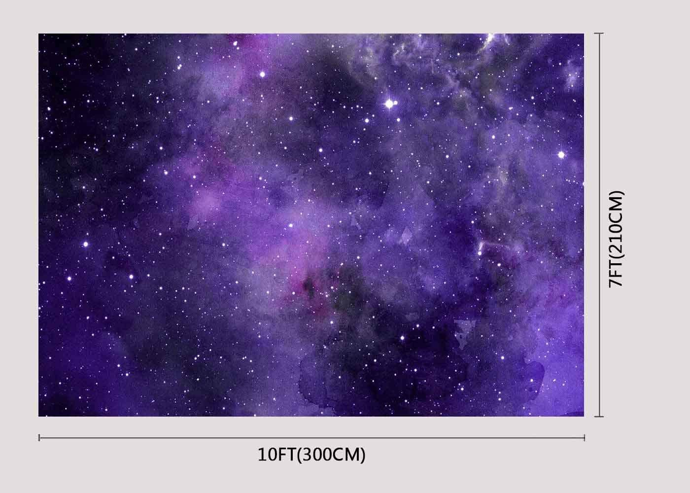 10x6.5ft Background Purple Starry Backdrop Space Themes Photography Photo Props DSFU019