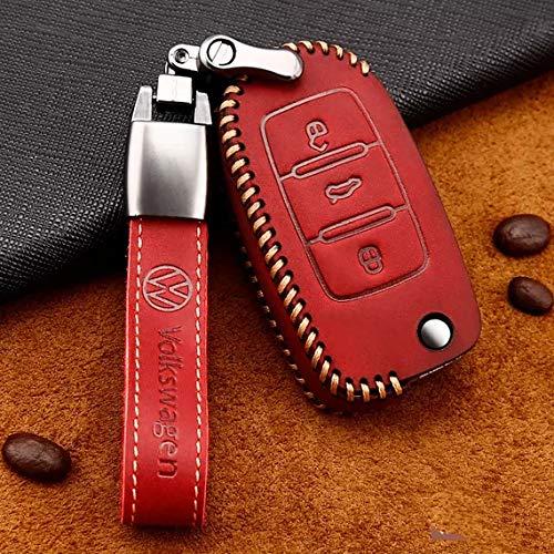 mächtig der welt VW Up-Caddy-VW Autoschlüsselabdeckung mit Schlüsselring Kompatibel mit Jetta…