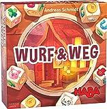 HABA 305292 - Wurf & Weg, Familienspiel für 2-6 Spieler ab 8 Jahren, Würfelspiel mit einfachen Regeln für schnellen Spielspaß