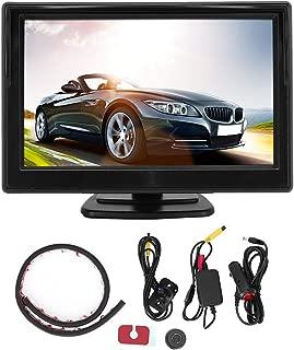 Suuonee Cámara de vista lateral, Control inalámbrico Punto ciego Cámara de vista lateral + Pantalla HD Sistema de monitor de estacionamiento