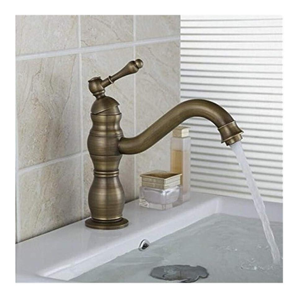 細分化する駐地中断シングルハンドルの高蛇口真鍮洗面シンクの蛇口は、大面積のフラッシュをミキシング