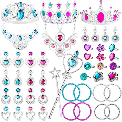 WATINC 48Pack Princess Pretend Jewelry Toy,Girl