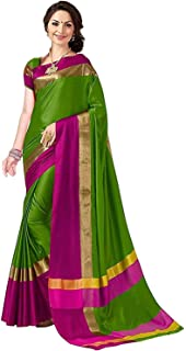 Yashika Women's Cotton Silk Saree With Blouse Piece