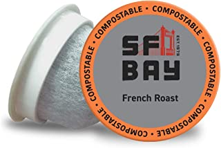 SF Bay Coffee French Roast 80 Ct Dark Roast Compostable Coffee Pods, K Cup Compatible..