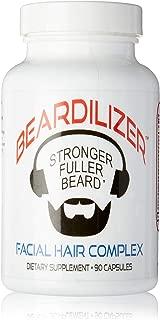 Beardilizer Facial Hair Growth Complex for Men, 90 Capsules