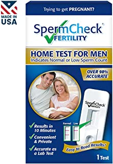 SpermCheck Fertility Home Sperm Test Kit | Indicates Normal or Low Sperm Count | Convenient and Private | Results in 10 Minutes | Easy to Read | Accurate as a Lab Test | FSA-HSA Eligible