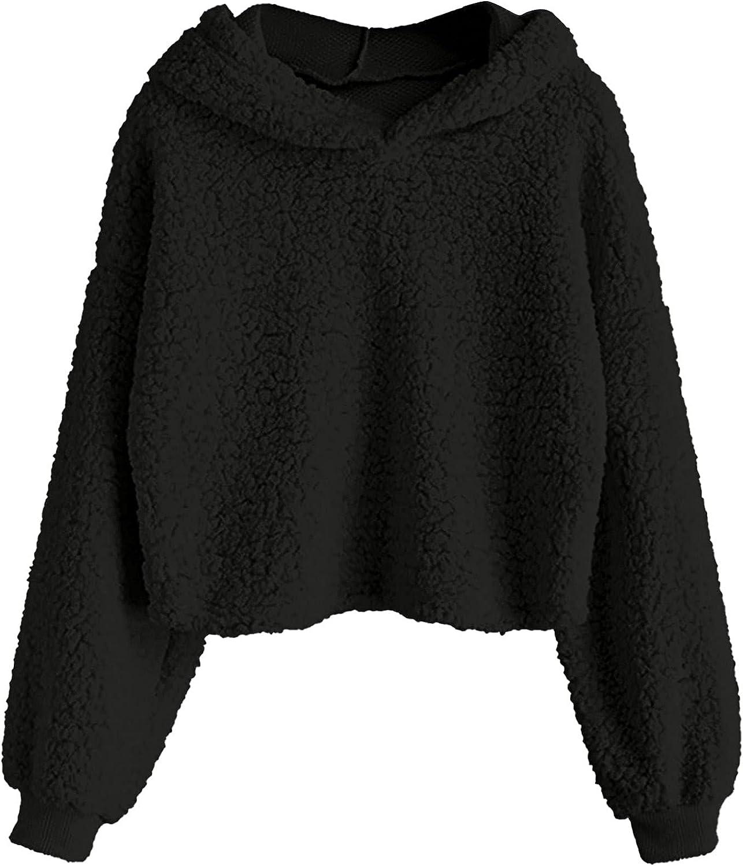 Attention Oakland Mall brand Hoodie Women Fashion Solid Color Sleeve Sweatshirt Long C Fleece