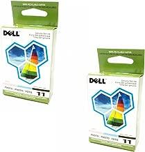 2-Lot Pair Bulk Genuine Dell Series 11 Photo JP455, DX518 Standard Ink Cartridge For Printer Models 948, V505, V505w