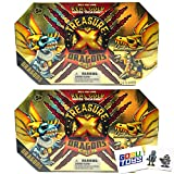 Treasure X Dragons Gold (2 Pack) with 2 GosuToys Stickers