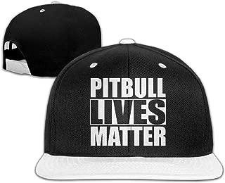 Mens/Womens Hip-hop Hats Pitbull Lives Matter Adjustable Flat Bill Baseball Caps
