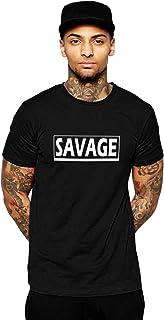 CURIOUS LIFESTYLE Men t Shirts Half Sleeve | Slogen t Shirt | Savage T Shirts | Round Neck | Cotton | Casual | Regular Fit