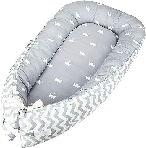 Reducteur de lit bebe Cocon, réducteur Lit bébé, Baby Nest cocoon pour nouveau-né nourrisson coussin pour bébé couffi...