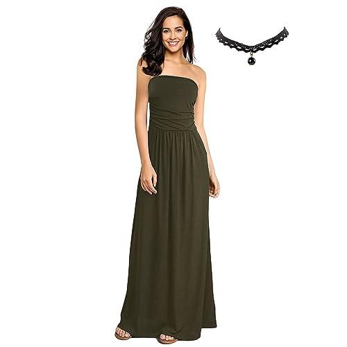 BUOYDM Donna Vestiti Eleganti da Sera Lunghi Vestito a Tubino Maxi Abito da  Cocktail Formale Banchetto d88570760e0