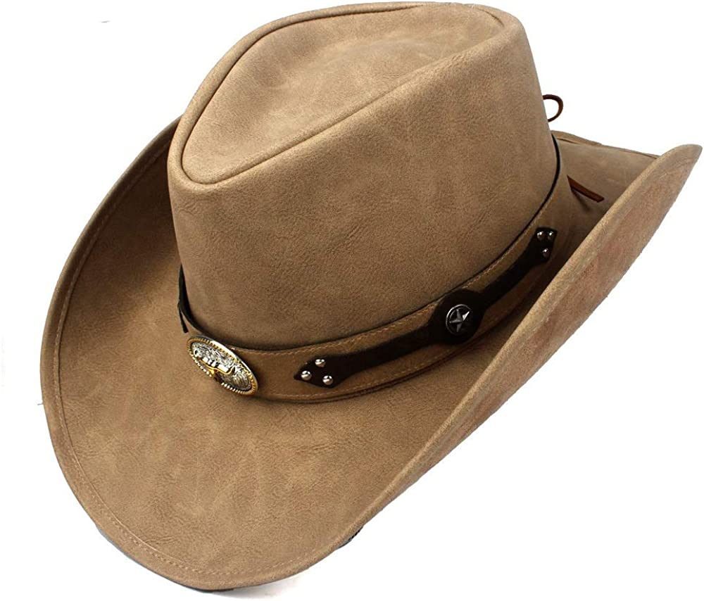 sun hat Godfather Jazz Inexpensive Hats Fashion Leather For Cowboy Men Western G Hat
