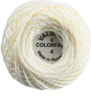 Valdani Perle Cotton Size 8 Embroidery Thread, 72 Yard Ball - 4 Ivory