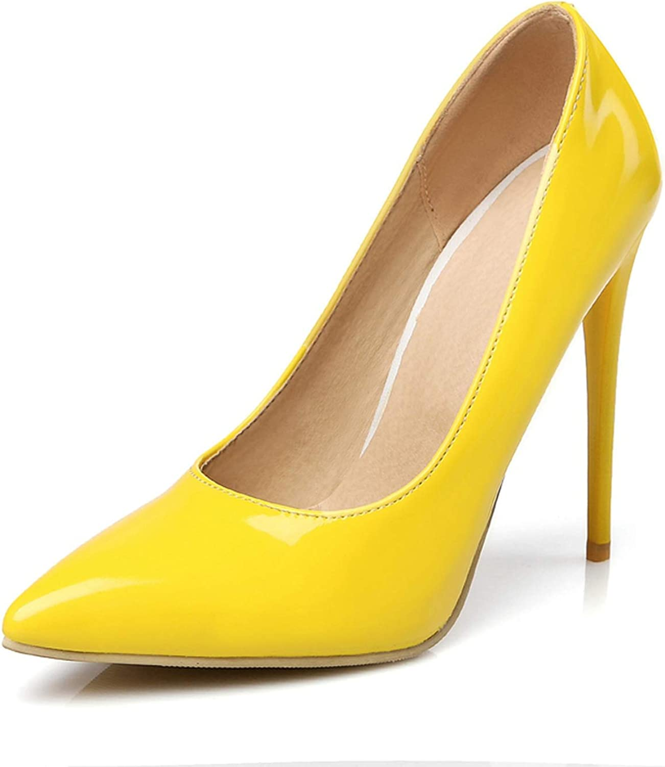 12Cm Shallow Thin Pumps Dress Party Office Lady's Pumps Pointed Toe Summer Stilettos women