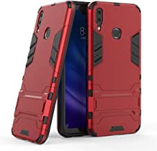Huawei Y9 2019 Case, Futanwei Military Grade Rugged Armor, 2 Layer [Hard PC + Soft TPU] Heavy Duty [Reinforced Drop Protection] Protective Case with Kickstand for Huawei Y9 2019 Phone, red