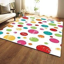 Carpet,Printed Pattern Rectangle Non-Slip Foot Pad,Living Room Bedroom Sofa Coffee Table Mats Bedside Area Rug Bath Mat Wa...