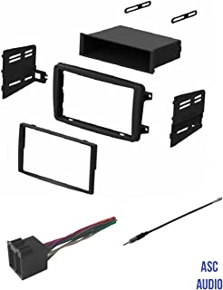 ASC Audio Car Stereo Radio Install Dash Kit, Wire Harness, and Antenna Adapter to Add an Aftermarket Radio for some 2001 2002 2003 2004 Mercedes C Class C230 C240 C320,