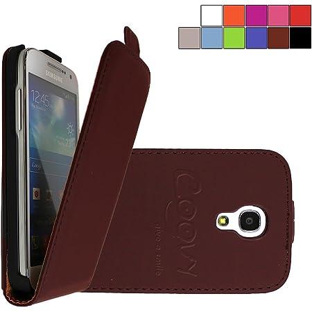 COOVY® Étui pour Samsung Galaxy S4 Mini GT-i9190 GT-i9195 GT-i9192 Slim Flip Coque Housse Étui de Protection Fin à clapet avec écran de Protection | ...