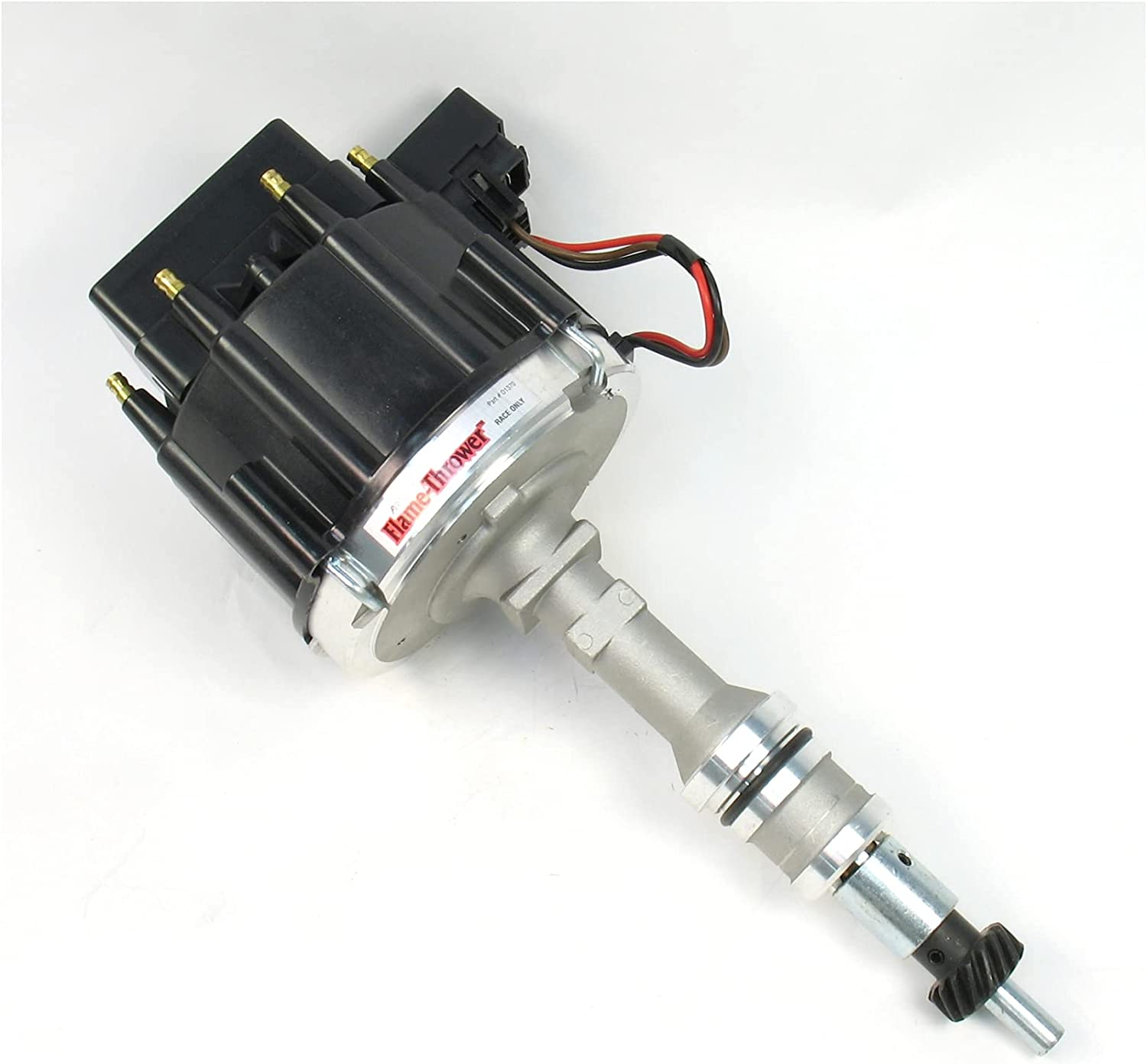Pertronix D1370 Flame-Thrower Some reservation Race Distributor Black Max 78% OFF Ca with HEI
