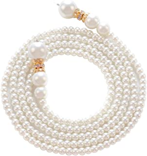 GameXcel Imitation Pearl Necklace Charm Pendant Necklace Beads Pendants Cluster Necklace for Women