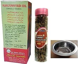 Dr. Kalan Johny's Gentle Ayurvedic Kanjunnyadi Gingelly Based 200ml, With Free Dilbahars Yummy Digestives Khatta Mitha Chh...