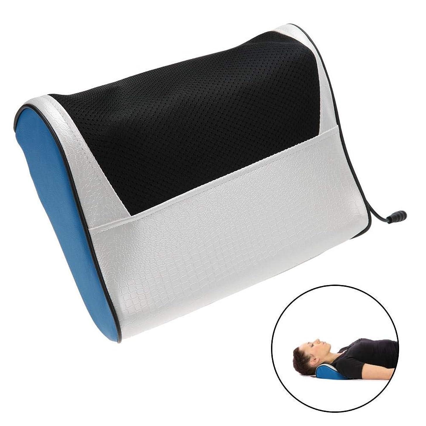 ミンチ動機魅力指圧枕マッサージ、多機能電動ネックショルダーボディマッサージ枕熱疲労