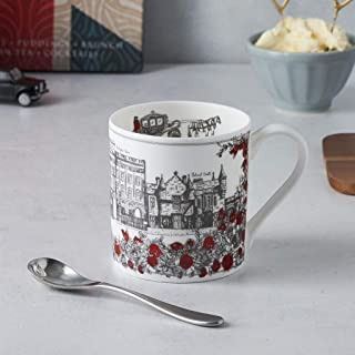 Royally British 12oz Mug - Fine Bone China - Made in Britain featuring the Queen and Buckingham Palace