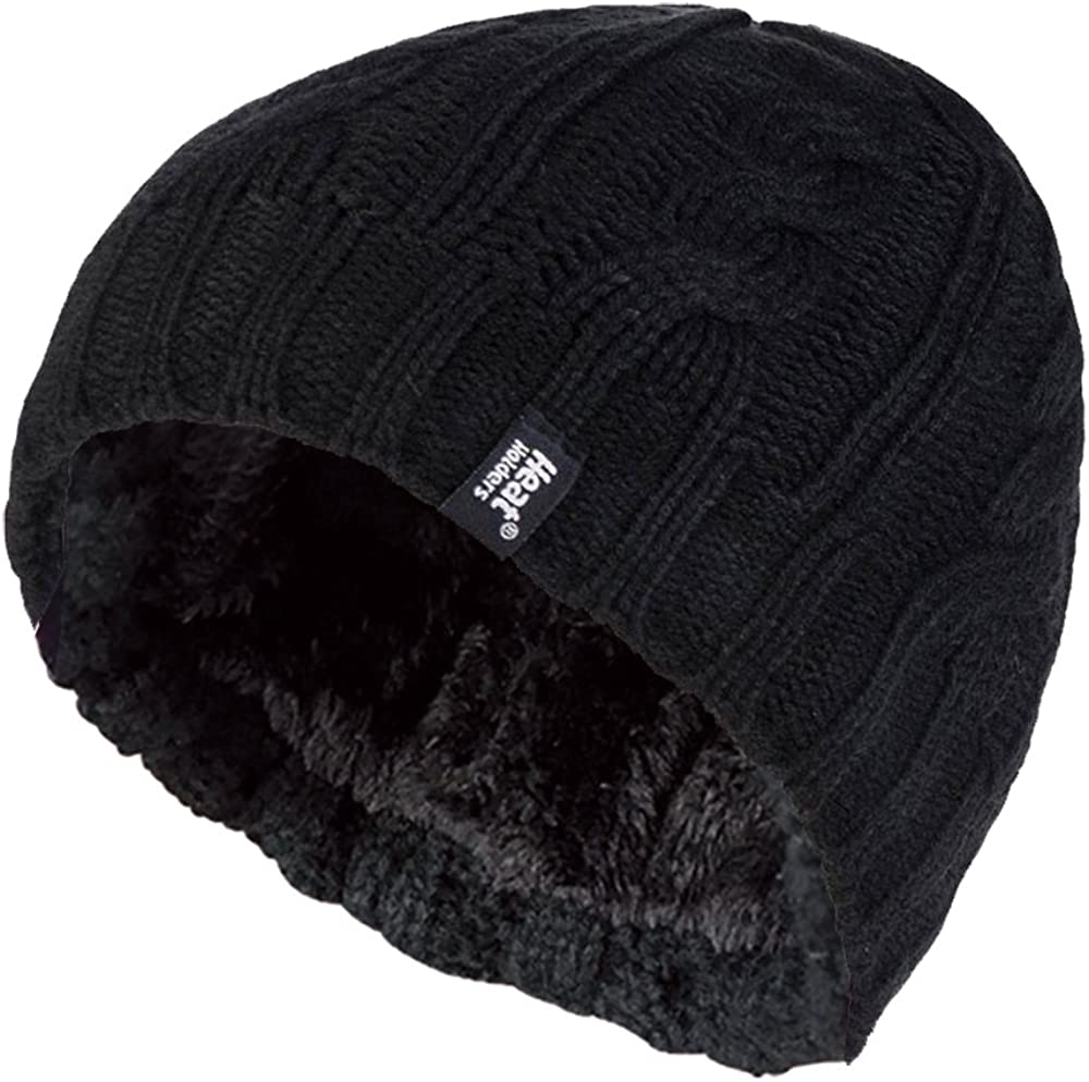 HEAT HOLDERS - Women's Thermal Fleece Cable Knit Winter Hat 3.4 Tog - One Size