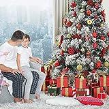 WEYON 113 Stück Christbaumkugeln Set Weihnachtskugeln aus Kunststoff Golden & Rot Baumschmuck Weihnachtsbaum Deko & Christbaumschmuck in unterschiedlichen Größen und Designs - 7