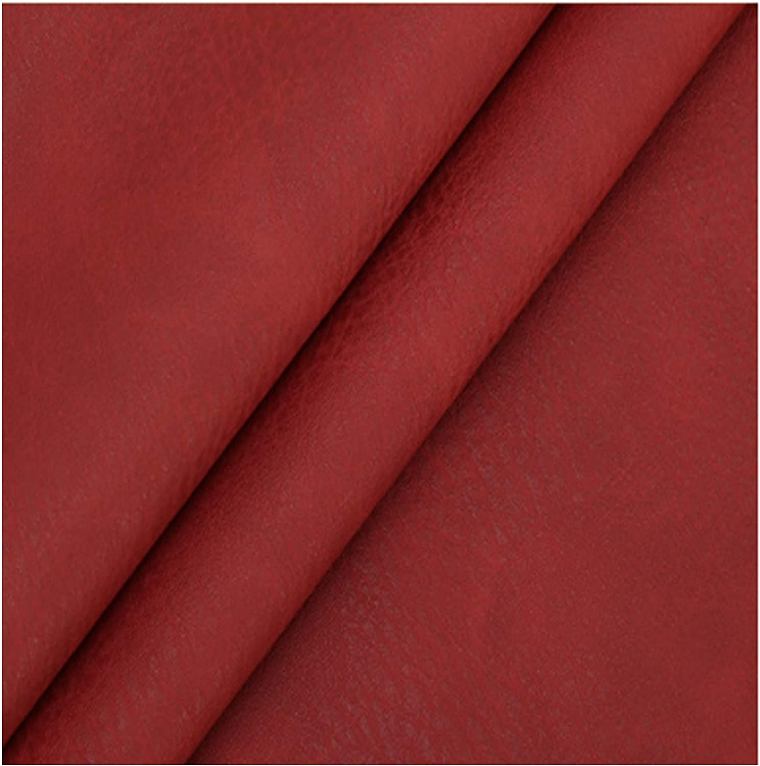 Red Max 69% OFF 138mm Wide Leatherette 1.2mm Max 65% OFF Waterproof Vinyl F Fabric Thick