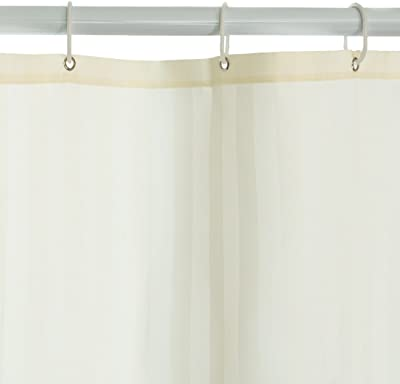 Harbormill 71 x 71 in. Stripes Fabric Shower Curtain Light Yellow