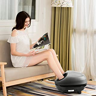 KING Bird Shiatsu Foot Massager Machine Electric with Heat deep Kneading Air Compression Adjustable Intensity, Washable Foot Holder, Fit for US Men's Size 12 Women's Size 13 (NO Calf Wraps)
