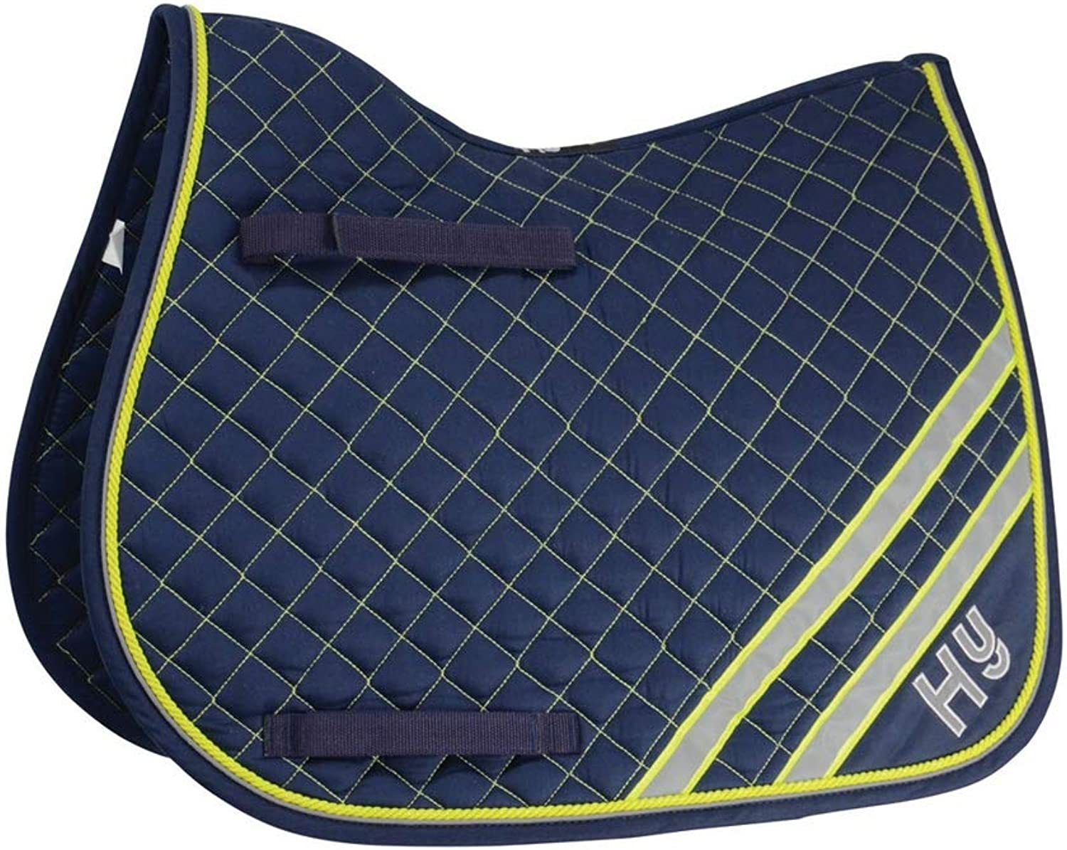 HyWITHER Reflector Saddle Pad (Pony) (Fluorescent Yellow Silver)