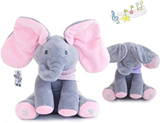 Flappy Ear Lena The Elephant Peek-a-boo Interactive Sing and Play Plush Toy for Baby