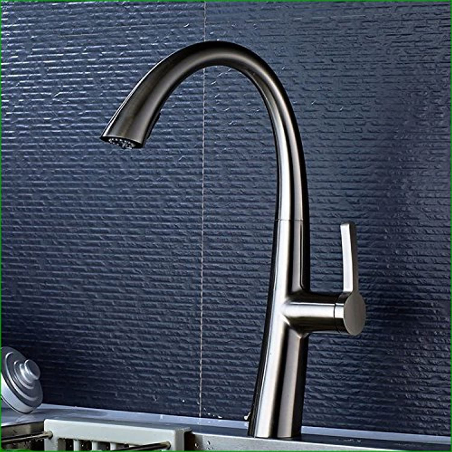 Fbict Full Copper and???Nickel Brushed Kitchen Faucet with redating Sink Faucet for Kitchen Bathroom Faucet Bid Tap