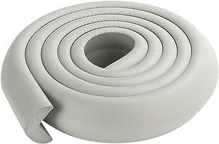 BESTOMZ Protector de Seguridad de Bordes y Esquina de Mesa Tira Anti-Golpe para Bebé, Color Gris, 2m