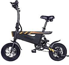 Ohwens Bicicleta Plegable,1 Pcs de Bicicleta Plegable Bicicleta Doble Frenos de Disco Sillín Ajustable para Ciclismo,Folding Bike Foldable Bicycle Double Disc Brakes Adjustable Saddle for Cycling