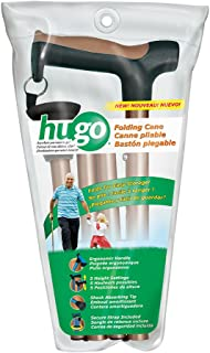 Hugo Mobility 731-495 Adjustable Folding Cane with Reflective Strap, Cocoa