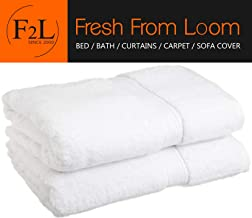 Fresh From Loom American Standard Cotton 500 GSM Bath Towel (27x54 inch/Standard; White) Set of 4 Pieces