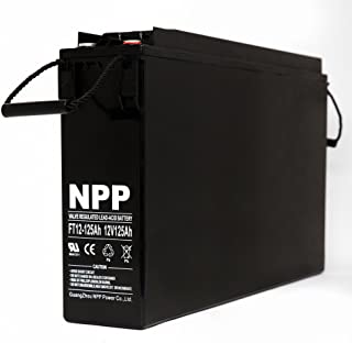 NPP FT12-125Ah Front Access Telecom Deep Cycle 12V 125 Ah Battery with Button Style Terminals