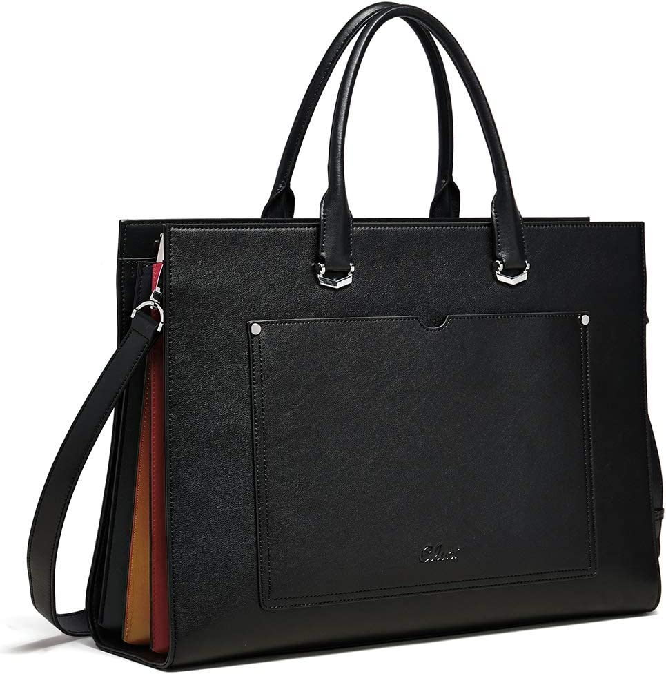 Wine Red Messenger Bag Su.B.dgn 13 Inch Laptop Bag with Trolley Strap for Women Leather Briefcase Handbag