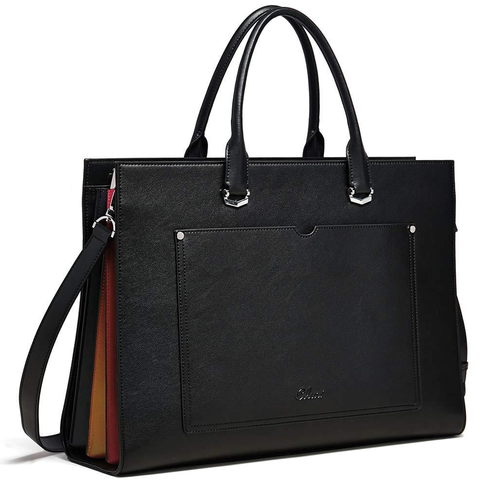 CLUCI Briefcase Leather Business Shoulder